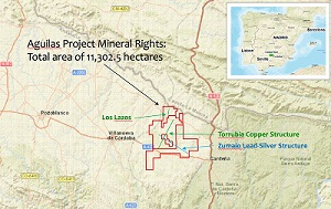 Figure 1 - Aguilas Project Location