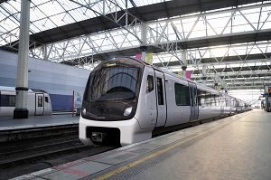 BOMBARDIER AVENTRA train at Waterloo Station in London