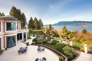 Spectacular ocean views of Spanish Banks, the Strait of Georgia, West Vancouver, Downtown Vancouver and the North Shore Mountains, the Estate is located in Vancouver's most prestigious neighbourhood.