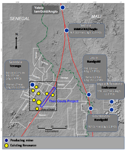 Map of Douta Project