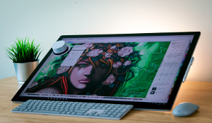 CorelDRAW 2017 offers onscreen and offscreen support for Surface Dial, giving graphics professionals hands-on access to their favorite tools and enabling them to use their non-dominant hand while they create.