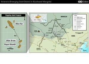Figure 1 - Erdene's Emerging Gold District