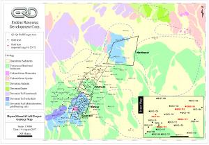 Figure 2 - Bayan Khundii Gold Project Drill Plan Map