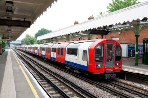 A London Underground Central line train to be powered by new Bombardier Transportation propulsion technology.
