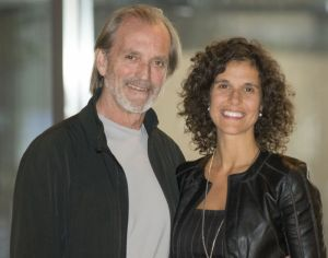 Le commandant Robert Piché et Geneviève Desautels, présidente et fondatrice d'Univers Interactif
