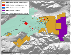 Figure 1: Keno District Property map