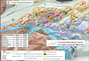 Figure 2: Keno District Geology and Structural Trends