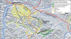 Figure 1: Klondike Gold District Properties