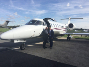 From left to right: Stuart Mulholland, Managing Director, Zenith Aviation and Marc Ghaly, Sales Director for Northern Europe and Israel, Bombardier Business Aircraft.