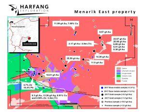 Figure 2 - Résultats d'exploration sur la propriété Ménarik Est