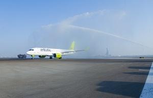 airBaltic CS300 à l'aéroport d'Abu Dhabi