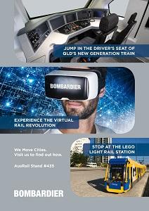Visit Bombardier at AusRail PLUS at stand #435, November 21 - 23.