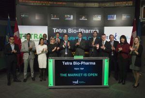 Tetra Bio-Pharma Opens Markets at TSX Listing Ceremony on Decenber 5th 2017. Credit photo: TMX