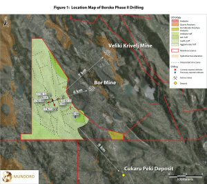 Figure 1: Plan Map of Drillhole Locations