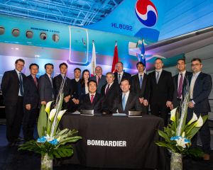 Delivery Ceremony of Korean Air's first CS300