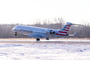 Bombardier CRJ900 aircraft in American Eagle colours
