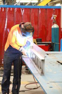 Welding at Bombardier's Dandenong Site in Australia