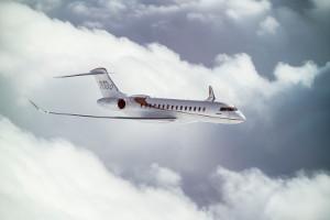 L'avion Global 7000 de Bombardier.
