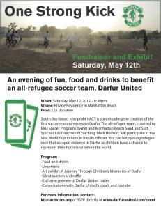 Darfur refugee, soccer, football, team, fundraiser, event, Manhattan Beach