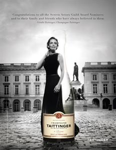 Champage Taittinger and Vitalie Taittinger for the SAG Awards