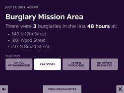 Sidekick burglary mission area - Predictive Policing