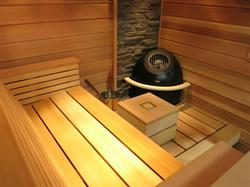 Seaside Sauna - Interior View