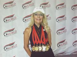 M Hamilton Senior Games Medals