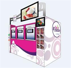 Donper America Turnkey Frozen Yogurt Kiosk for Convenience Stores