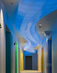 Seeyond Architecural Solutions tessellated and lighted ceiling cloud.