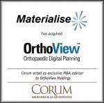 Materialise has acquired OrthoView