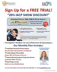 """IACP 2014 - LP Police - """"Catch the Bad Guys"""" - Booth #1040"""