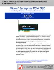 A solution including a Micron Enterprise PCIe SSD-based SAN delivered top-notch virtualization performance.
