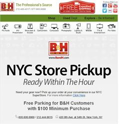 B&H order online with in-store pickup