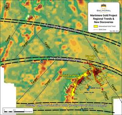 Figure 1: Martiniere Discoveries map