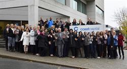 Coast Capital employees celebrate the credit union's inclusion as one of the 10 Most Admired Corporate Cultures in Canada.