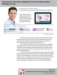 Pathologists: Wait up to 14.6% less while reviewing lab samples with this tablet.