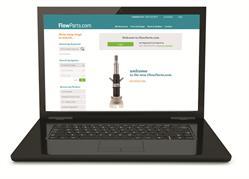 FlowParts.com homepage.