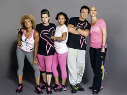 Beto Joins Breast Cancer Survivors at the Party in Pink™ Zumba Wear Shoot