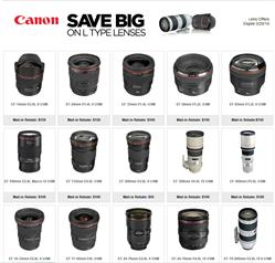 Canon Lens Rebate Page