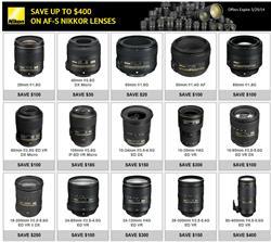 Nikon Lenses Instant Rebate