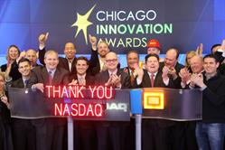 Rabine Group, the leader in asphalt paving, and Chicago Innovations Award winners ring NASDAQ Bell