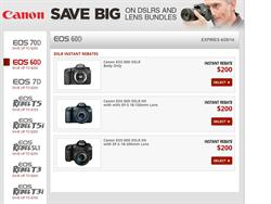 Canon EOS 60D DSLR Camera Instant Rebate
