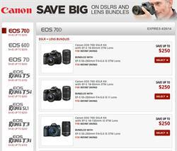 Canon EOS 70D DSLR Camera Savings