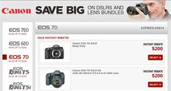 Canon EOS 7D DSLR Camera instant Savings