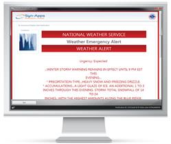 SA-Announce Emergency Alert Notification