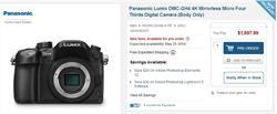 Panasonic Live GH4 4K Webcast