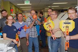 CHG IT team with Nerf guns