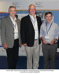 Pascal Dupire of Sigma-Phi, Michael Kempkes of Diversified Technologies and Jean-Luc Lancelot of Sigma-Phi