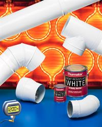 Thurmalox® 290-00 Heat Resistant White Paint features a proprietary formulation that prevents yellowing at up to 1,200°F and is suitable for a wide range of applications.