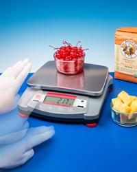 The Alliance/Ohaus® Navigator® XT portable electronic scale feature touch-free operation, making it ideally suited for weighing ingredients for recipes without creating a mess.